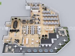 Office Space Interactive 3D Virtual Floor Plan Developed By Yantram Architectural Modeling Firm, Tokyo – Japan Modern Oturma Odası Yantram Architectural Design Studio Modern