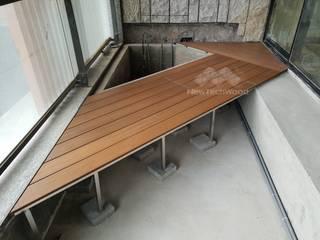 Balcón de estilo  de 新綠境實業有限公司, Asiático