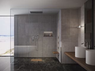 SILVERPLAT Minimalist style bathroom