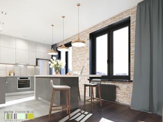 Eclectic style kitchen by Мастерская интерьера Юлии Шевелевой Eclectic