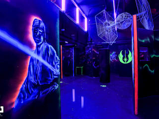 Laser Tag Arena 根據 dal design office 工業風