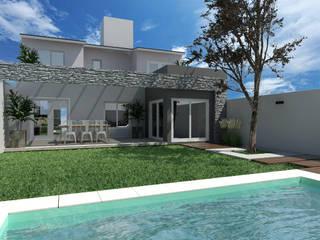 Ampliacion Vivienda Piletas modernas: Ideas, imágenes y decoración de VI Arquitectura & Dis. Interior Moderno