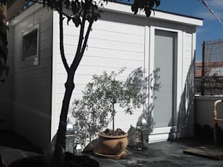 Caseta de madera como gabinete de terapia. de Construcción de casetas de Madera en Madrid Rústico