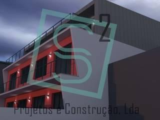 Alçado Posterior:   por S Ao Quadrado, Projetos e Construção, Lda