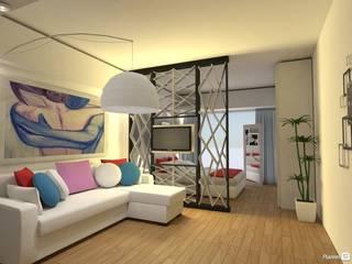Monoambiente - Recoleta Arquimundo 3g - Diseño de Interiores - Ciudad de Buenos Aires Livings de estilo moderno