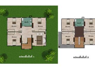 บ้านจำลอง 3D คุณจิว โดย บริษัท พี นัมเบอร์วัน ดีไซน์ แอนด์ คอนสตรัคชั่น จำกัด โมเดิร์น