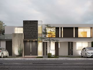 DELTA Eclectic style houses Concrete White