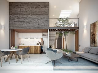 DELTA Kitchen Reinforced concrete Wood effect