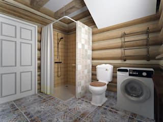 Country style bathroom by студия Виталии Романовской Country
