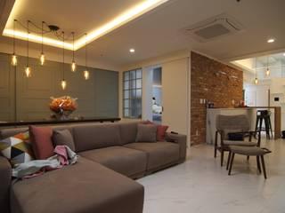 독산동 오피스텔 모던스타일 거실 by IDA - 아이엘아이 디자인 아틀리에 모던