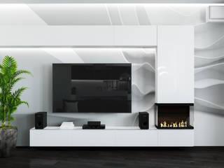 Ruang Keluarga Minimalis Oleh Дизайн Студия Katushhha Minimalis