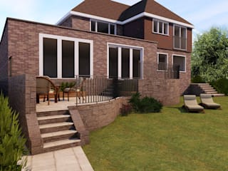 Rear extension STAAC Single family home Bricks Red