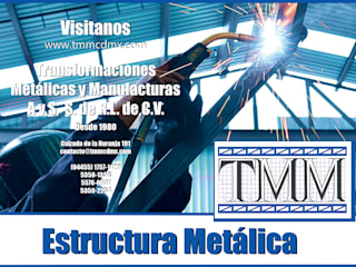 de estilo industrial por Transformaciones Metalicas y Manufacturas A y S, S.de R. L. de C. V., Industrial
