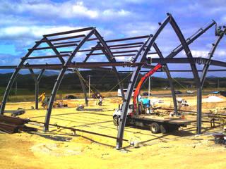 Estructura Metálica:  de estilo industrial por Transformaciones Metalicas y Manufacturas A y S, S.de R. L. de C. V., Industrial