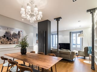 Living room by AGi architects arquitectos y diseñadores en Madrid,