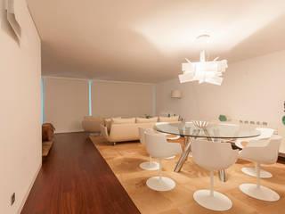 Descanso dos Guerreiros: Salas de jantar  por MY STUDIO HOME - Design de Interiores