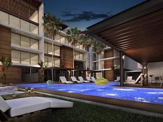 Porto Marina Mazatlán Casas modernas de JEP arquitectos Moderno