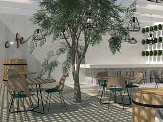 Arquitectura interior: Espacios comerciales de estilo  por Quinta Fachada Studio  ¡Tú lo sueñas y nosotros lo proyectamos! ,