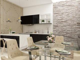 Interior Desain Modern:  Ruang Makan by PT. Leeyaqat Karya Pratama