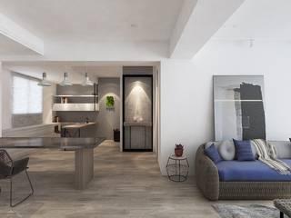 Salas de estar minimalistas por 芮晟設計事務所 Minimalista