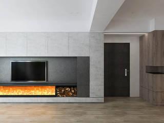 Paredes e pisos minimalistas por 芮晟設計事務所 Minimalista