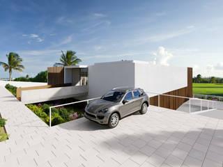 MORADIA. GOLF OEIRAS Casas modernas por MA.TERIA. ARCHITECTURE SOLUTIONS Moderno