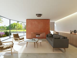 MORADIA. GOLF OEIRAS Salas de estar modernas por MA.TERIA. ARCHITECTURE SOLUTIONS Moderno