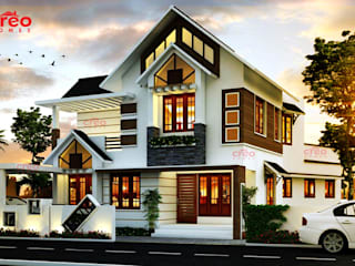 Architects in Kerala Creo Homes Pvt Ltd Asian style houses