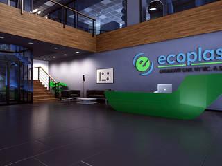 Ecoplas Modern Koridor, Hol & Merdivenler INVENT YAPI TASARIM Modern