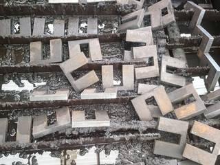Pantografo CNC de Plasma Paredes y pisos de estilo industrial de Transformaciones Metalicas y Manufacturas A y S, S.de R. L. de C. V. Industrial