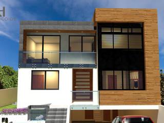 Maison individuelle de style  par Helicoide Estudio de Arquitectura,