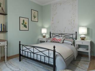 Country style bedroom by Glancing EYE - Asesoramiento y decoración en diseños 3D Country