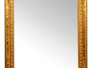 SPECCHIERA ANTICA CON CORNICE DORATA EPOCA 1800, IN FOGLIA D'ORO ZECCHINO. (SPR32) :  in stile  di Antichità Sgarbossa