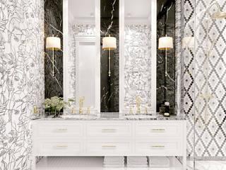 Biało-czarna łazienka: styl , w kategorii Łazienka zaprojektowany przez Elegance of Tailors,