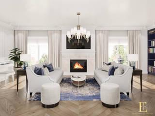 Jasny przestronny salon: styl , w kategorii Salon zaprojektowany przez Elegance of Tailors