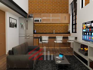 DEPARTAMENTOS BE-KA Salones modernos de S A N D A ARQUITECTOS Moderno