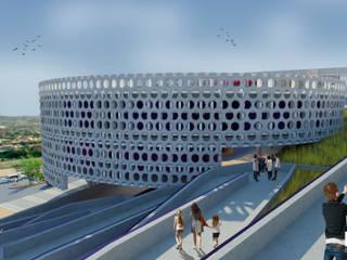 Estancia Familiar del DIF / Vista Rampa: Estudios y oficinas de estilo  por DSarquitectura