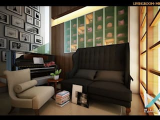 Eclectic style living room by midun and partners architect Eclectic