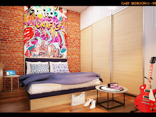 Eclectic style bedroom by midun and partners architect Eclectic