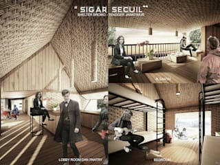 Tropical style commercial spaces by midun and partners architect Tropical