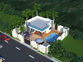 Luxurious Mini Farm House Modern houses by Bhuvith Creations Modern