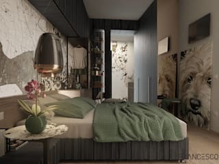 Eclectic style bedroom by FRANCESCO CARDANO Interior designer Eclectic