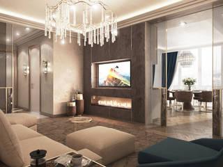 클래식스타일 거실 by GLAZOV design group концептуальная студия дизайна интерьеров 클래식