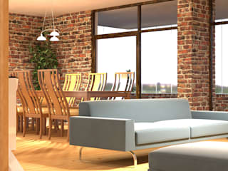 Ego Mimarlık A.Ş – Livingroom & Kitchen Design Project:  tarz Oturma Odası