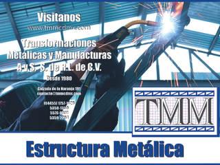 Casas de estilo industrial de Transformaciones Metalicas y Manufacturas A y S, S.de R. L. de C. V. Industrial