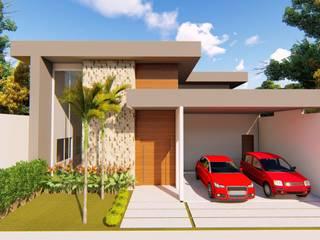 Residencia Unifamiliar: Casas familiares  por VSD Arquitetura e Design