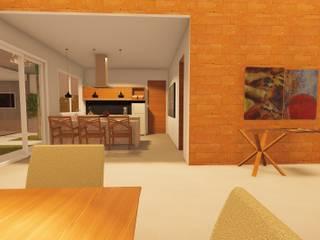 Residencia Unifamiliar: Cozinhas pequenas  por VSD Arquitetura e Design