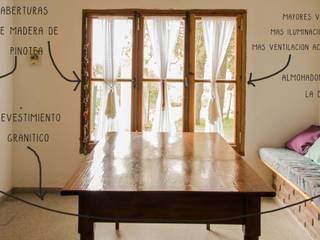 CASA GM: Comedores de estilo  por Eh! Arquitectura