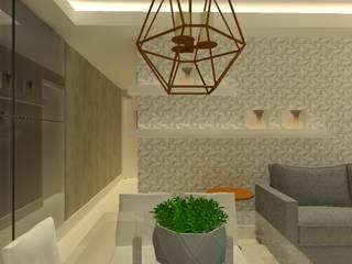 Assessoria   Design de Interiores - Residencial: Salas de estar  por Ortho Arquitetura