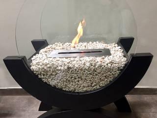 Chimenea Ecológica de bioetanol. Modelo: Media Luna de ARTEFLAMA Moderno